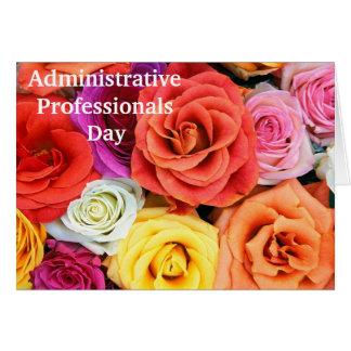 Tarjeta del aprecio para los profesionales adminis