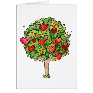 Tarjeta del árbol de amor