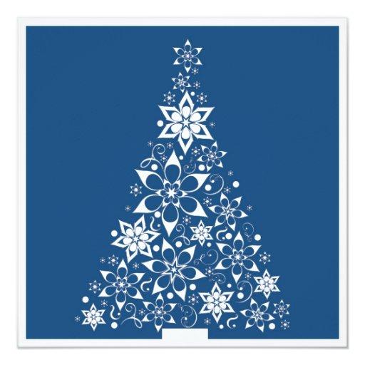 """tarjeta del árbol de navidad 5x5 invitación 5.25"""" x 5.25"""""""