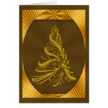 Tarjeta del árbol de navidad del oro
