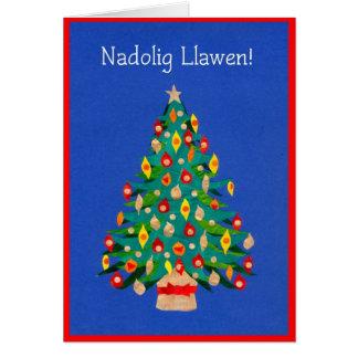Tarjeta del árbol de navidad, Galés