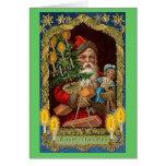 tarjeta del árbol de santa