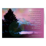 Tarjeta del árbol del cielo azul del rosa del rezo