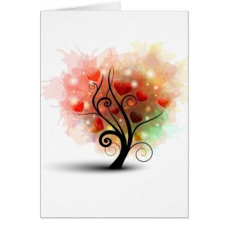 Tarjeta del árbol del corazón