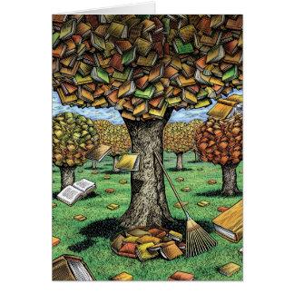 Tarjeta del árbol del libro