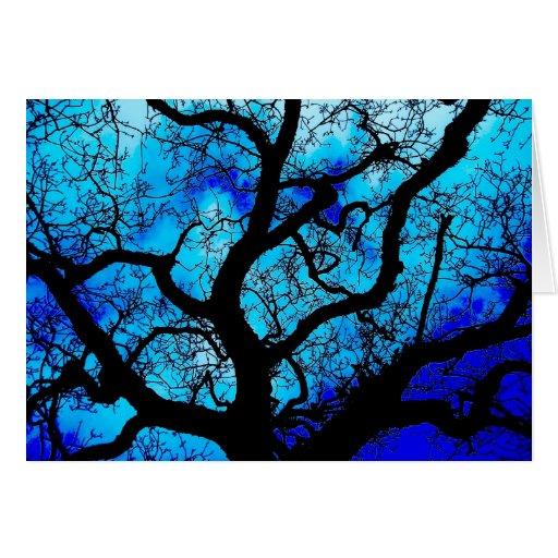Tarjeta del árbol que frecuenta