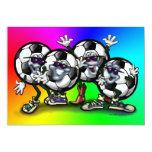 Tarjeta del arco iris de la cuadrilla del fútbol invitación 12,7 x 17,8 cm