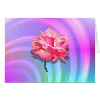 Tarjeta del arco iris de Rosey