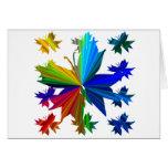 Tarjeta del arco iris del modelo de mariposa