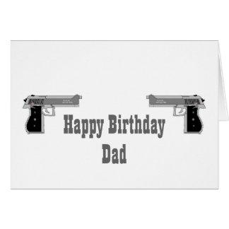 Tarjeta del arma del feliz cumpleaños