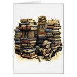 Tarjeta del arqueólogo del libro