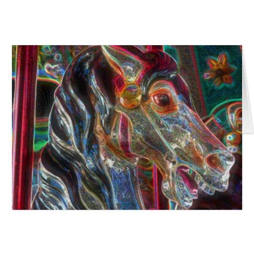 Tarjeta del arte abstracto del caballo del carruse