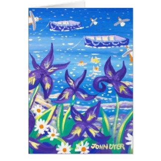 Tarjeta del arte: Azul del iris