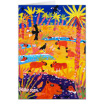 Tarjeta del arte: Capybara brasileño. Pantanal el