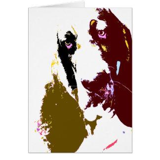 Tarjeta del arte de Basset Hound