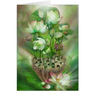 Tarjeta del arte de Chakra del corazón de la cura