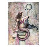 Tarjeta del arte de la fantasía de la sirena por M