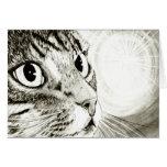 Tarjeta del arte de la fantasía del gato de Tabby