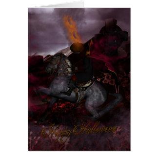 Tarjeta del arte de la fantasía del jinete sin cab