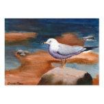 Tarjeta del arte de la gaviota plantilla de tarjeta de visita