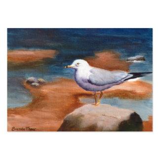 Tarjeta del arte de la gaviota tarjetas de visita grandes