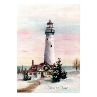 Tarjeta del arte de la luz de navidad tarjetas de visita grandes