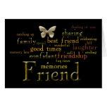 Tarjeta del arte de la palabra del amigo