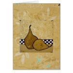 tarjeta del arte de la pera
