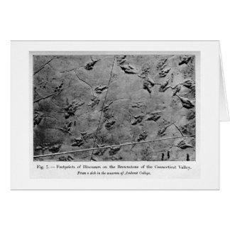 Tarjeta del arte de las huellas del dinosaurio