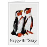 Tarjeta del arte de los pingüinos