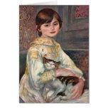 Tarjeta del arte de Renoir: Mlle. Julia Manet con