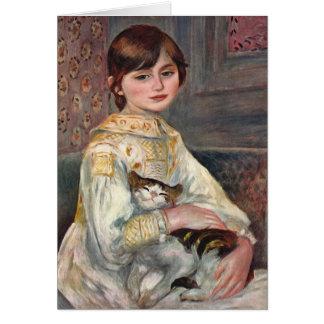 Tarjeta del arte de Renoir Mlle Julia Manet con