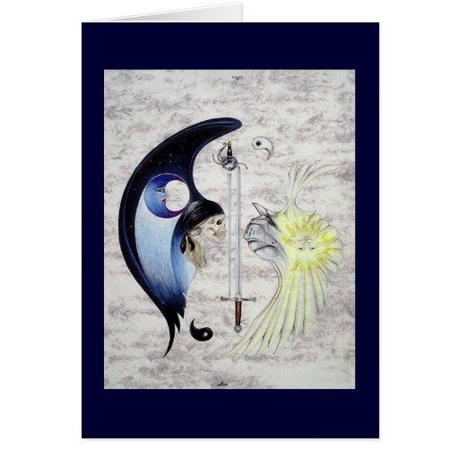 """Tarjeta del arte de """"Yin y de Yang"""""""