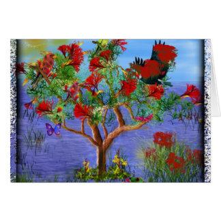 Tarjeta del arte del árbol