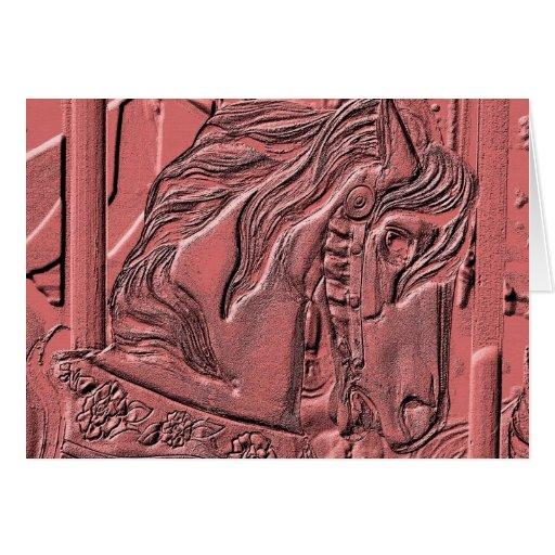 Tarjeta del arte del caballo del carrusel