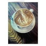 Tarjeta del arte del café