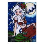 Tarjeta del arte del chica de la fantasía de la si
