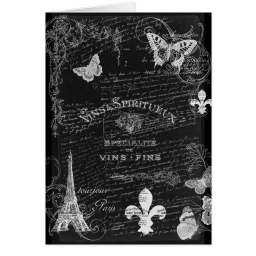Tarjeta del arte del collage de Toujours París