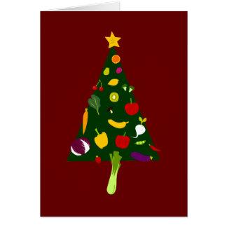 Tarjeta del arte del Doodle del árbol de navidad d