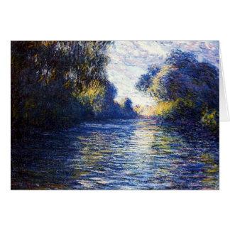 Tarjeta del arte del impresionismo de Monet río Se