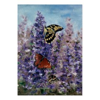 Tarjeta del arte del jardín de la mariposa tarjetas de visita grandes