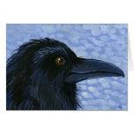 tarjeta del arte del pájaro del ravenhead