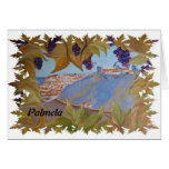 tarjeta del arte del palmela