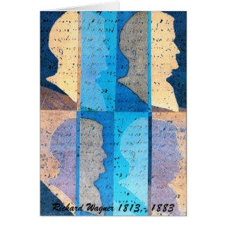 Tarjeta del arte del perfil de Richard Wagner
