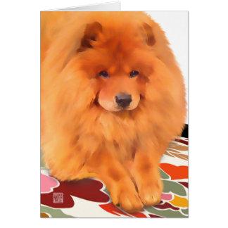 """Tarjeta del arte del perro chino del heARTdog de """""""