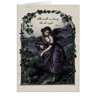 Tarjeta del arte del Victorian de la belleza de By