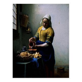 """Tarjeta del arte - """"la criada de la cocina"""" por postal"""