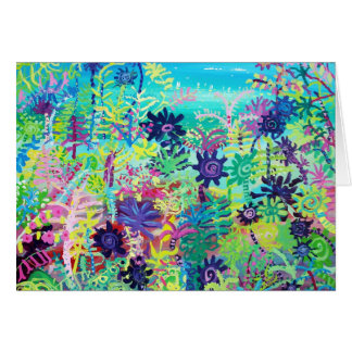 Tarjeta del arte: Plantas tropicales sub