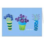 Tarjeta del arte: Porciones de potes de flores