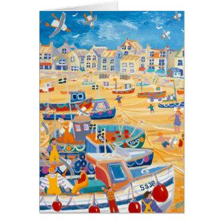 Tarjeta del arte: Puerto de St Ives, Cornualles